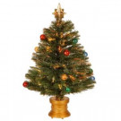 2.67 ft. Fiber Optic Fireworks Artificial Christmas Tree with Ball Ornaments