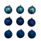 60 mm Blue Shatterproof Ornament (18-Count)