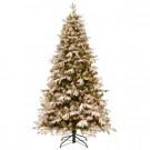 7 ft. Snowy Everest Fir Medium Artificial Christmas Tree with Clear Lights
