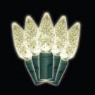 35-Light LED Warm White Battery-Operated C6 Light Set