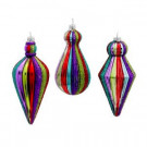3.5 in. - 6 in. Glass Rainbow Drop Ornament (3-Set)