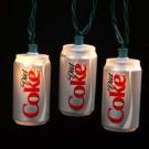 10-Light Red/Silver Diet Coke Can Indoor Light Set
