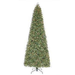 12 ft. Pre-Lit Downswept Wimberly Slim Spruce Artificial Christmas Tree with Clear Lights