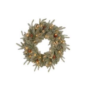 30 in. Alaskan Spruce Artificial Wreath with Pinecones