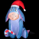 3 ft. Inflatable Airblown Lighted Outdoor Eeyore with Candy Cane