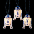 10-Light Blue/White Star Wars R2D2 Indoor/Outdoor Light Set