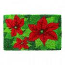 Poinsettias 18 in. x 30 in. Hand Woven Coir Door Mat