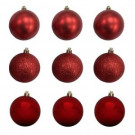 60 mm Red Shatterproof Ornament (18-Count)