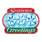 """Battery-Operated 16 in. """"Season's Greetings"""" LED Light Show Sign"""