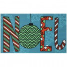 Big Noel 17 in. x 29 in. Digital Printed Echo Door Mat
