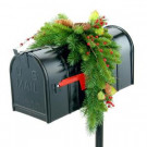 Classical Collection 3 ft. Mail Box Cover with Red Berries, Cones and Holly Leaves