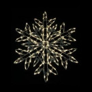 35 in. 180-Light LED Warm White Twinkling Snowflake Sculpture