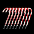 10 in. Lighted Candy Cane Pathway Stakes (Set of 8)