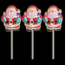 Battery Operated Pure White Twinkling LED Santa Icy Pathmarkers