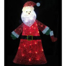 36 in. Pre-Lit Clear LED Christmas Santa Glittering and Twinkling