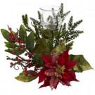Poinsettia Candelabrum Centerpiece