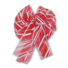 Candy Stripe Lighted LED Bow