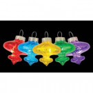 6 ft. 10-Light LED Multi-Color Mercury Glass Battery-Operated Pendant Light Set