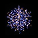35 in. 180-Light LED Warm White and Blue Twinkling Snowflake Sculpture
