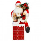 24 in. Santa in Chimney, Animated and Musical