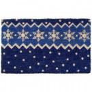 Snow Pattern 18 in. x 30 in. Hand Woven Coconut Fiber Door Mat