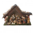 9.5 in. Musical LED Nativity Set with Figures and Stable