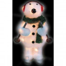 24 in. Skiing Polar Bear with Clear Lights