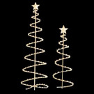 6 ft. and 4 ft. Spiral Trees (Set of 2)