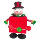11 in. Metal Bouncing Snowman with Red Present Body