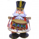 5.75 in. W x 9.5 in. H Metal Bouncing Nutcracker with Drum