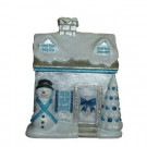 Holiday Frost 9.75 in. Snow Covered Christmas Village