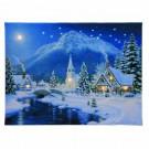 16 in. x 20 in. Christmas Village Illuminart