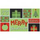 Elegant Entry Merriest Christmas 17 in. x 29 in. Door Mat