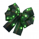 4.5 in. Green LEDLit Gift Bows (3-Pack)