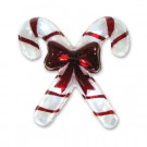 13.75 in. Battery-Operated Pure White Twinkling LED Candy Cane Icy Window Decor