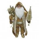 18 in. Tabletop Santa with Shimmer Coat