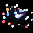 25-Light LED Multi-Color Random Twinkle Miniature Globe (Green Wire) Light Set