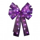 12 in. Purple LED Lit Bow (3-Pack)