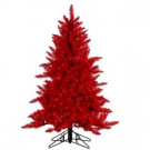 4.5 ft. Pre-Lit Red Ashley Artificial Christmas Tree with Red Lights