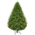 7.5 ft. Feel-Real California Cedar Artificial Christmas Tree with Clear Ready-Lit Lights