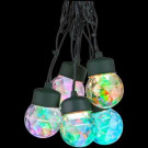 8-Light Multi-Color Projection Round Light String with Clips
