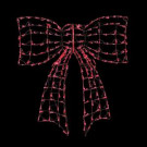 44 in. 220 G14 LED Twinkling Red Outdoor Bow Sculpture