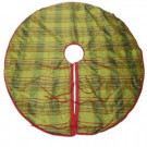 54 in. Apple Green and Red Tartan Tree Skirt