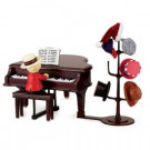 7 in. Teddy Take Request with Grand Piano