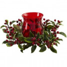 6.5 in. Holly Berry Candelabrum