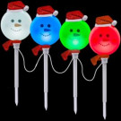 Snowman Pathway Stake (Set of 4)