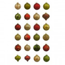 Country Holiday Blown Glass Ornament (24-Count)