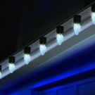 C9 15-Light LED Faceted Pure White Amazing Light Show