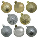 60mm Shatterproof Ornament Silver/Gold PVC Tube (50-Count)
