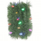 9 ft. LED Pre-Lit Roping Garland with Dual Clear and Multi Color C6 Lights